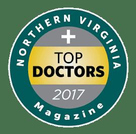 Northern Virginia Top Doctors Magazine 2017 Certificate